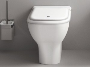 Agape Memory floor toilet with soft close seat ACER0898W