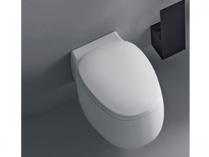 Agape Pear2 wall toilet with soft close seat ACER0897W