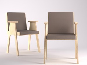Agapecasa Club 44 chair with armrests ACLB528