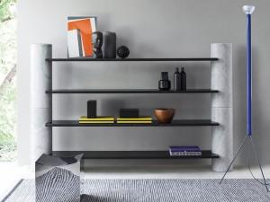 Agapecasa Loico bookshelves composition in marble ALIC