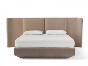Amura Panis Bed leather king size bed PANISBED595.607