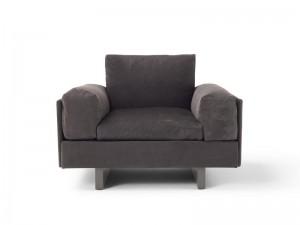 Amura Tau leather armchair TAU010