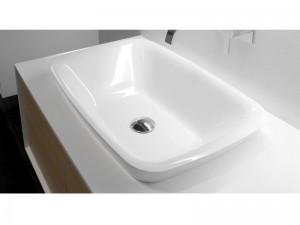 Antonio Lupi drop in sink in Ceramilux BULBO