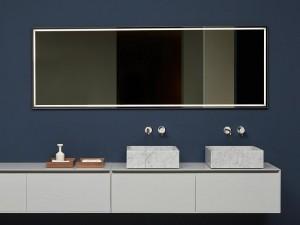 Antonio Lupi Fila rectangular mirror with white led FILA75W