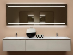 Antonio Lupi Spio rectangular mirror with white led SPIO150W