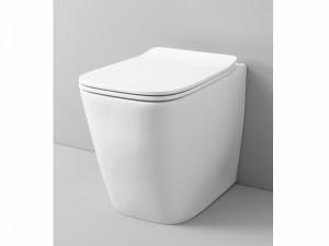 Artceram A16 floor rimless toilet with soft close toilet seat in matt white ASV00405