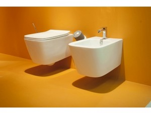 Artceram A16 wall rimless toilet, bidet and soft close seat