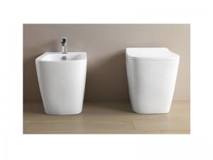 Artceram A16 floor rimless toilet, bidet and soft close seat ASV004+ASB002+ASA001