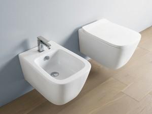 Artceram A16 Mini wall rimless toilet, bidet and soft close seat