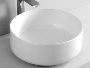 Artceram Cognac42 countertop sink in matt white COL00105