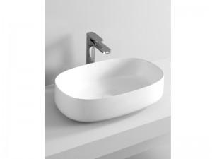 Artceram Cognac55 countertop sink in matt white COL003-05