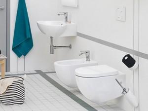 Artceram File wall rimless toilet, bidet and soft close seat in matt white FLV00405+FLB00105+FLA0145