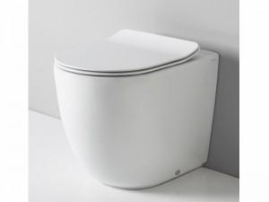 Artceram File floor rimless toilet with soft close toilet seat FLV005