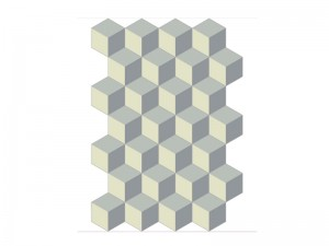 Bisazza Cementiles Decorations cement tiles Cubic Platino