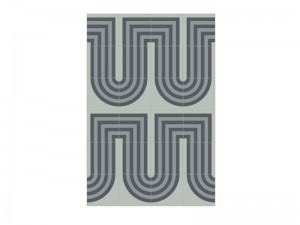 Bisazza Cementiles Decorations cement tiles Duct Grey