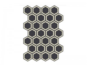 Bisazza Cementiles Decorations cement tiles Honey Nero