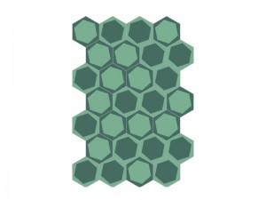 Bisazza Cementiles Decorations cement tiles On/Off Teal