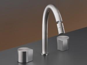 Cea Duet 3 holes bidet tap with adjustable spout DET28