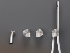 Cea Duet wall hot tub tap with handshower