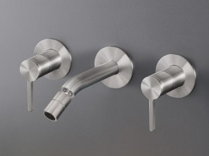 Cea Innovo wall 3 holes bidet tap with adjustable spout INV33