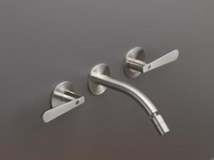 Cea Lutezia wall 3 holes bidet tap with adjustable spout LTZ04