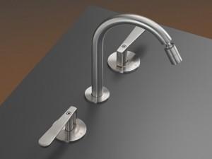 Cea Lutezia 3 holes bidet tap with adjustable spout LTZ12