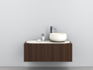 Cielo Delfo wall unit with sink