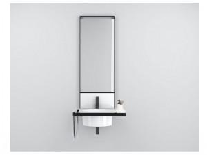 Cielo Elle Tonda vanity sink with black matt structure