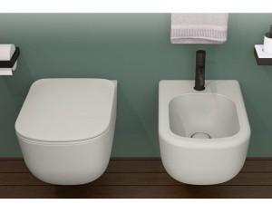 Cielo Era wall rimless toilet and bidet Talco