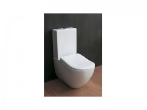 Cielo Fluid monobloc floor toilet FLVM-FLCM