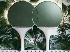 Devon & Devon Double Kalos double freestanding sink with mirror DOUBLEKALOS