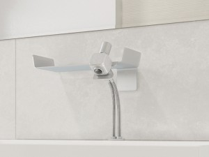 Dueacca Kit 03 Indoor single lever sink tap with wall support 4120038101