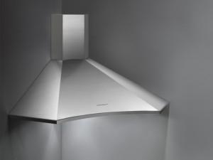 Falmec Design angular kitchen hood ELIOS