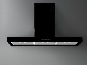 Falmec Design wall or island kitchen hood PLANE BLACK