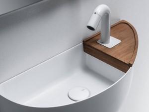 Falper Bowllino wood shelf sink WL4