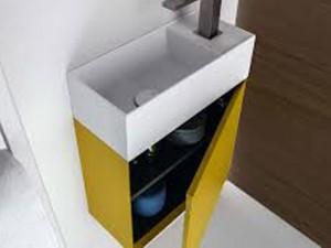 Falper D5K wall sink unit with door