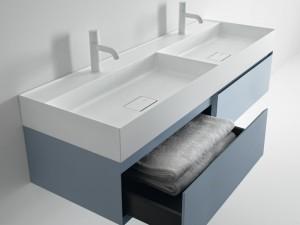 Falper Quattro.Zero double countertop or wall sink D7I
