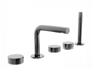 Fantini AF/21 5 holes hot tub tap with diverter and pull out handshower A265