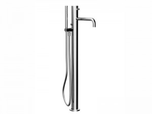 Fantini AF/21 floor hot tub tap with diverter and handshower A580B
