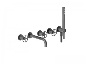 Fantini Fontane Bianche hot tub tap with handshower P019B