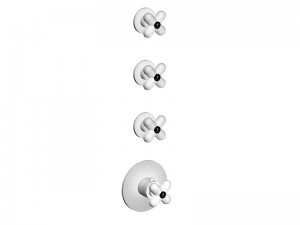 Fantini I Balocchi 4 holes thermostatic shower mixer with 3 stop valves 0603B