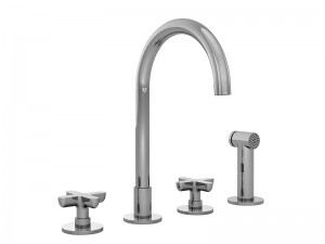 Fantini Icona Classic 4 holes kitchen tap with pull out handshower R051