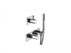 Fantini Milano thermostatic shower mixer with 2 stop valves and handshower 4712B