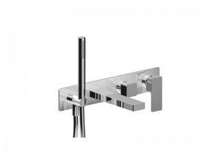 Fantini Mint Acciaio hot tub tap with diverter and handshower F721B