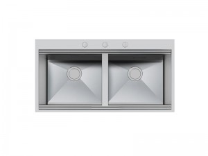Foster Milano double kitchen sink in stainless steel 1020 050