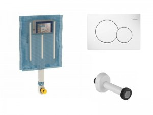 Geberit concealed cistern and flush plate for toilets