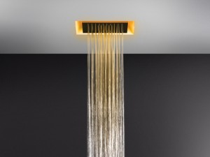 Gessi Afilo ceiling shower head with chromotherapy 57301