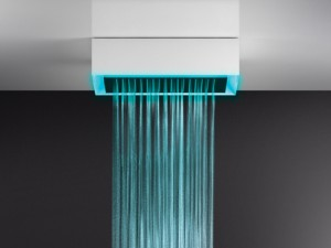 Gessi Afilo ceiling shower head with chromotherapy 57403