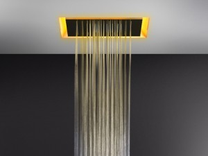 Gessi Afilo ceiling shower head with chromotherapy 57501