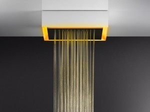 Gessi Afilo ceiling shower head with chromotherapy 57503